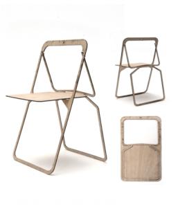 Hester's shaker inspired, flat-pack chair design.