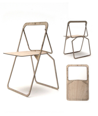 Hester's shaker inspired, flat-pack chair design.