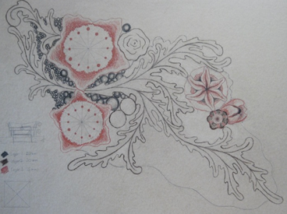 Design sketches for carved work.