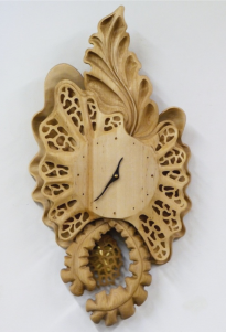 Passementerie carved clock.
